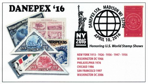 DANEPEX 2016 commemorative cover