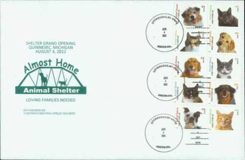Almost Home Animal Shelter 6x9 commemorative cover