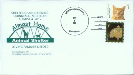 one of the Almost Home Animal Shelter commemorative covers available