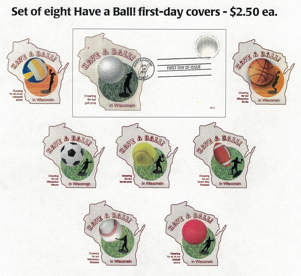 Have a Ball! first day cover