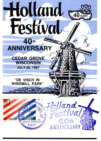 Holland Festival 40th Anniversary postcard
