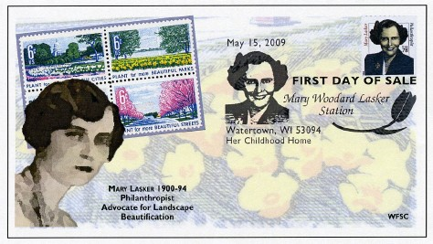 Mary Lasker first day cover