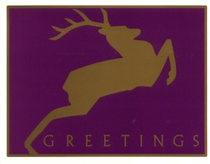 20-cent Reindeer postcard first-day of issue back