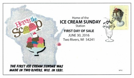 Sundae stamp first day cover