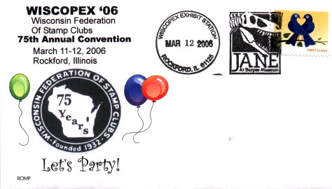 WISCOPEX 2006 commemorative cover