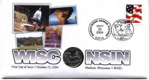Wisconsin Quarter first day cover